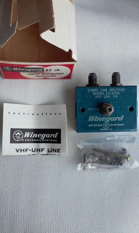 Winegard LS-275B LINE SPLITTER 82 ch. VHF-UHF-FM Improve TV & FM Reception NOS