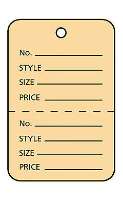 Perforated Tags Price 1000 Sale 1 X 1 Two Part Salmon Unstrung Tag