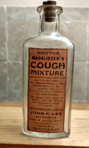 Vintage Medicine Hand Crafted Bottle, Dr. Macalister