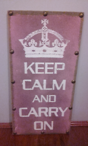 As New Stay Calm and Carry on Canvas Wall Art Campbelltown Campbelltown Area Preview