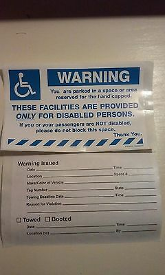 warning handicapped parking stickers 10 to a pack 2060WH
