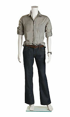 Male Headless White Plastic Mannequin - Height 57 - With Base