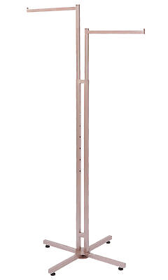 2-way Clothing Rack Rose Gold Straight Arm Garment Retail Display 48 - 72 H