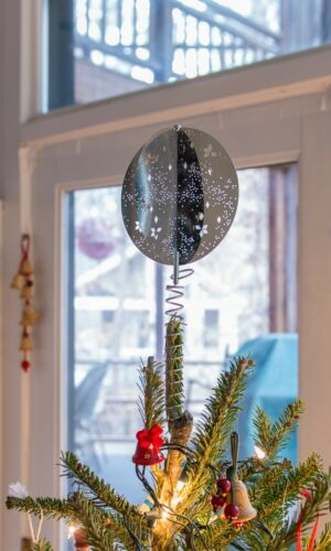Georg Jensen (Silver) Stainless Steel Harlequin Star Excursion Tree Topper / New