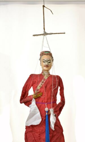"""Asian Chinese Handmade Opera String Marionette Puppet Doll 25"""""""