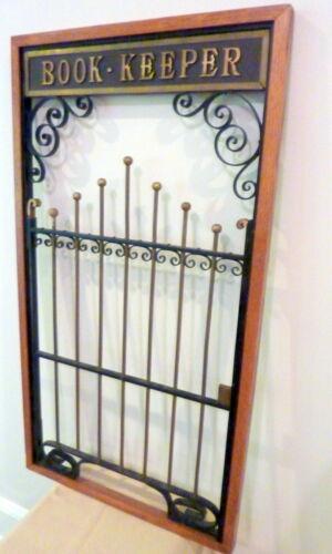 Antique Teller Window ~ Book Keeper ~ Brass ~ Iron Filigree ~ Lock ~ Oak ~ CPA