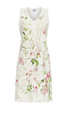 Ringella Damen Nachthemd Langarm Interlock Baumwolle Off-White Blumen