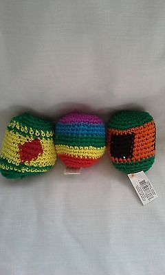 Hackey Sack -  Knitted  Kick Balls  3 For One Great Price  FREE SHIPPING