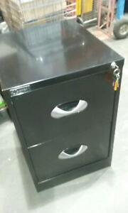 Black filing cabinet - 2 drawer, with key [244] Braybrook Maribyrnong Area Preview