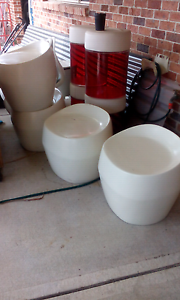 4 white moulded outdoor seats Bonnyrigg Heights Fairfield Area Preview
