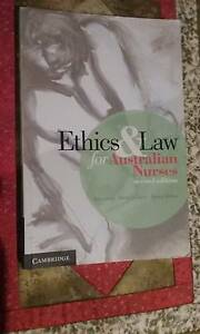 Ethics and Law for Australian Nurses - 2nd edition Wollongong Wollongong Area Preview