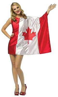 ADULT CANADA MAPLE LEAF FLAG DRESS HOLIDAYS PARTIES COSTUME - Canada Costumes