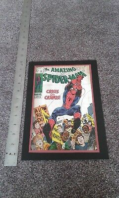 Handmade homemade The Amazing Spiderman handmade card A4 size Uniquepersonalised