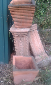 Terracotta pedestals with pots Pine Mountain Ipswich City Preview