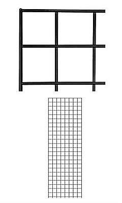 Set Of 4 Gridwall Panels 2 X 6 Grid Wall Display Black Panel Steel Powder Coat