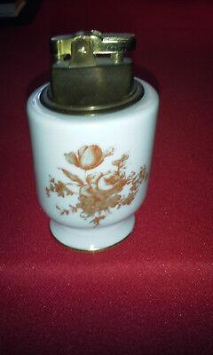 Vintage Limoges Painted Table Lighter w/Brass Lighter Insert NICE!! for sale  Star Junction