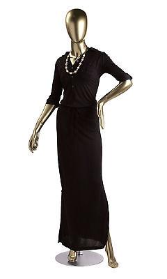 Female Shiny Gold Fiberglass Mannequin Height 510 Base Bust 33 Waist 24