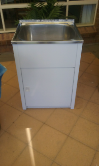 laundry trough with cabinet