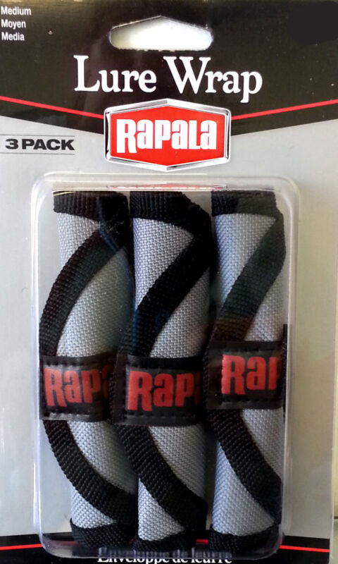 Rapala Lure Wrap / Lure Protectors With Cover And Hook Guard - 3 Pack