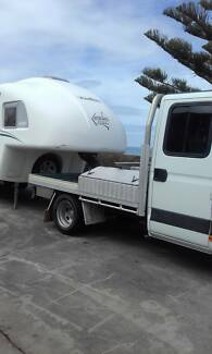 5th Wheel Caravan and Iveco Truck