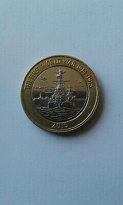 2015 First World War £2 pound coin Royal Navy featuring HMS  Belfast