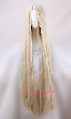 Movie Tangled Rapunzel 120cm long blonde cosplay straight full hair - Movie Wigs
