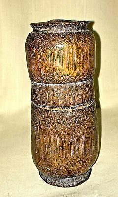 Antique Bamboo Wood Box/Container with Lid - Betel Nut Holder?