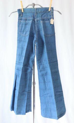 Vintage 70s Jeans Denim Patchwork Pants Kids Girls sz 8 Dead Stock NWT Flares Be