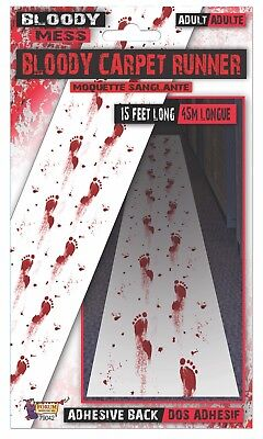 Bloody Mess Floor Runner 15' Long Foot Prints Halloween Party Accessory Adult ()