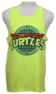 Teenage Mutant Ninja Turtles Tank Top T-shirt Graphic Tee Neon Yellow - Tmnt Tank Top