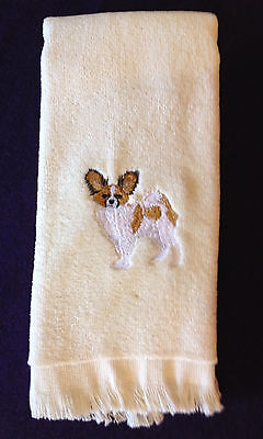 Papillon, Towel, Embroidered, Custom, Personalized, Dog
