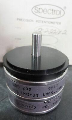 Spectrol Model 202 Precision Potentiometer 9211
