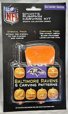 Baltimore Ravens Halloween Pumpkin Carving Kit NEW! Stencils for Jack-o-latern](Halloween Baltimore)