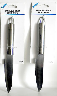 2  Stainless Steel Very Sharp Fruit Kitchen Steak Knife with Hanging Hook Sale