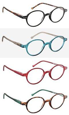 Stilvolle Design Rundbrille Lesebrille Unisex Damen Herren Lesehilfe Kunststoff