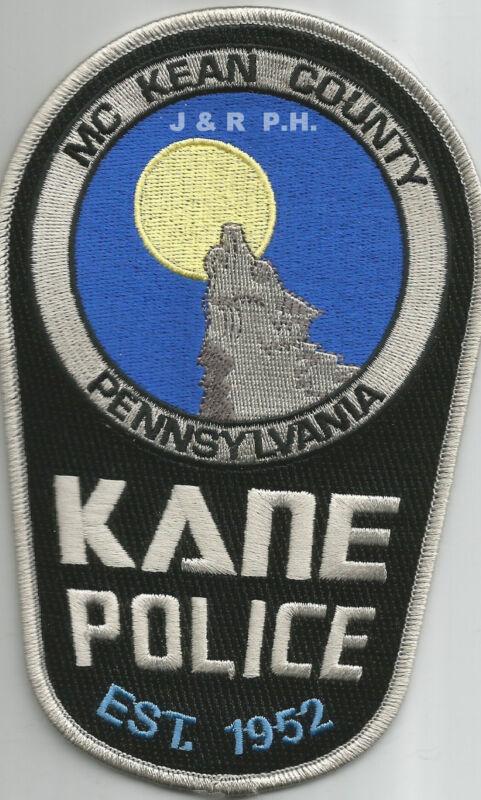 "Kane / McKean County - 1952, PA  (4"" x 6.25"" size)  shoulder police patch (fire)"