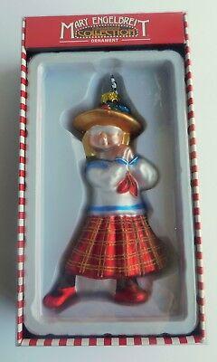 Kurt Adler Mary Engelbreit Hand Blown Glass School Girl Ornament MIB 6 1/2
