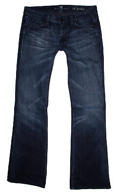 Seven For All Mankind A Pocket Jeans (7 Seven for all Mankind Damen Jeans A POCKET Schlaghose W29 L34 blau)