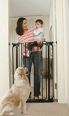 Value Pack!  2 Dream Baby Extra Tall Baby Pet Pressure Safety Gates, Black