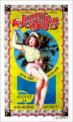 Jimmy Buffett Coral Reefer Band Poster 1996 Hand-Signed Giclee by Bob Masse NICE