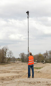 Telescopic Camera Pole Mast for Aerial Photography -  Monopod 10-metre extended