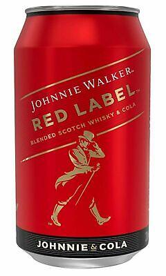 12 Dosen Johnnie Walker Red Label & Cola a 0,33 L 10% inc. EINWEG Pfand