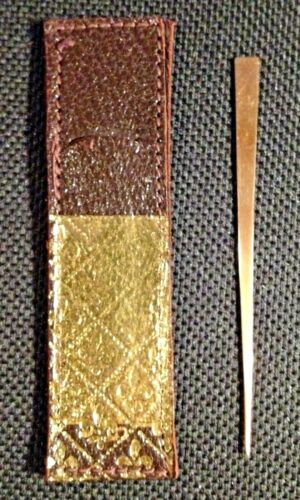 JOST 14k Yellow Gold Toothpick with Leather Pouch - 1970