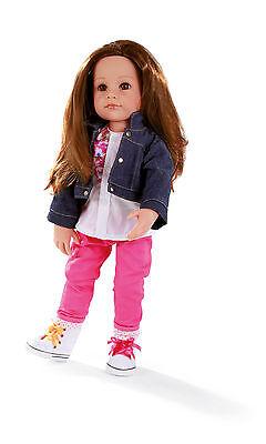 Götz Stehpuppe Puppe Hanna als Designerin 50cm 16 tlg. Set Geschenk Neu 1359068