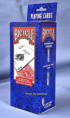 BICYCLE PLAYING CARDS Poker 12 Pack - 6 BLUE & 6 RED 808 Standard Decks Games](Playing Cards Games)
