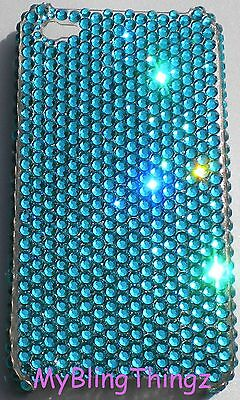 TURQUOISE Blue Crystal Bling Back Case for iPhone 5 5S made w/Swarovski Elements Blue Crystal Case