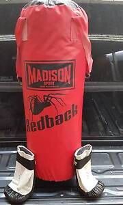Punching bag and boxing gloves Madison Sport redback Hove Holdfast Bay Preview