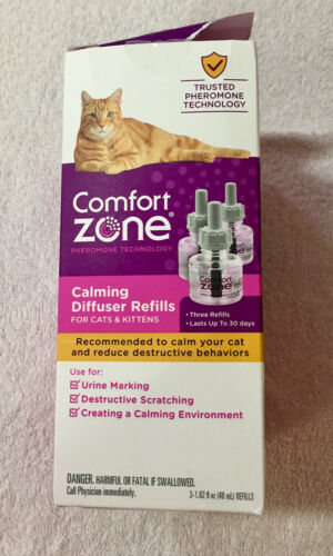 Genuine Comfort Zone Calming Diffuser Refills 3 Pack (New open damaged box)