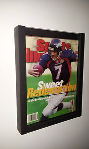 MAGAZINE SPORTS ILLUSTRATED DISPLAY FRAME CASE BLACK SHADOW BOX