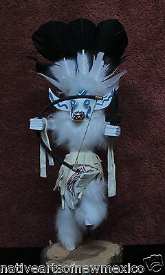 NAVAJO WHITE OGER KACHINA MEDIUM  JACIDA LOLEY HANDMADE!!